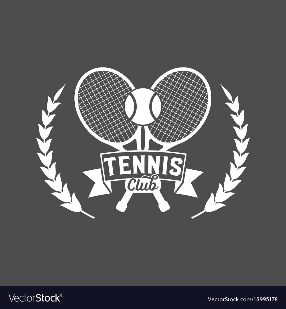 Tennis sports logo label emblem design elements
