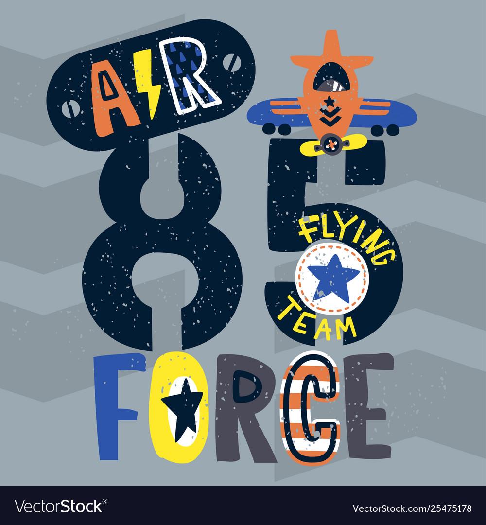 Vintage air force typography