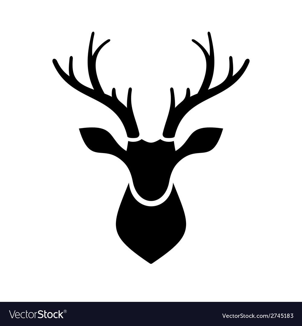 deer head icon logo royalty free vector image vectorstock rh vectorstock com deer head logo clothing brand Deer Head Stencil