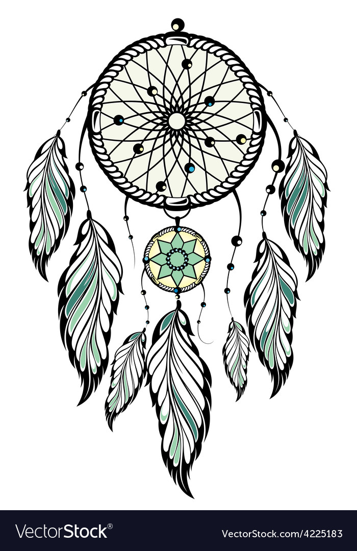 Indian Dream Catcher Royalty Free Vector Image Beauteous Set It Off Dream Catcher