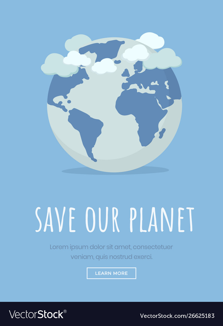 International earth day landing page template