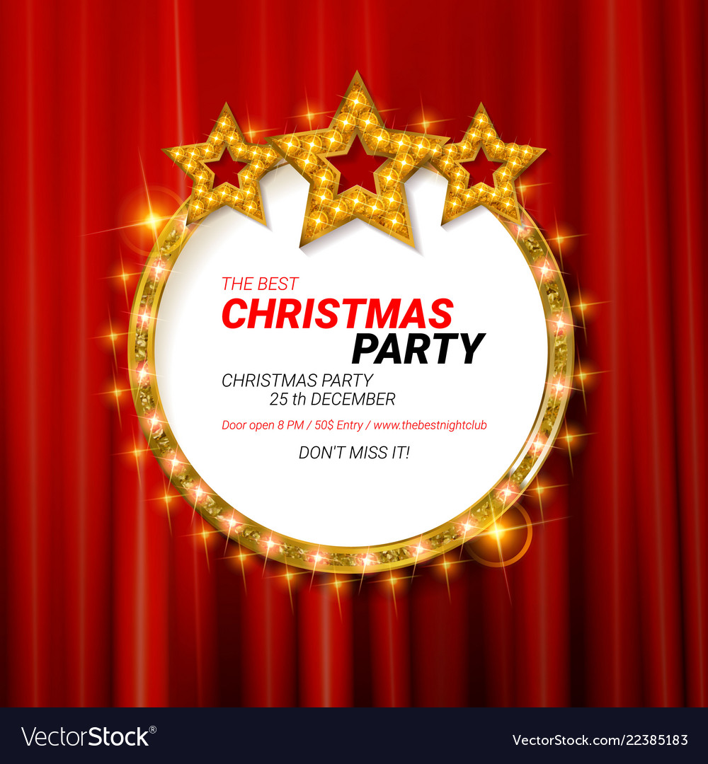 Christmas Party 2019 Logo.Invitation Merry Christmas Party 2019