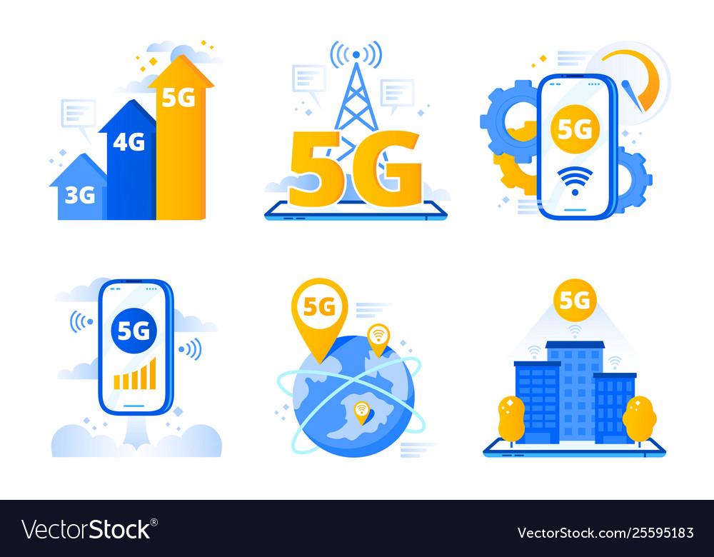 Mobile 5g network city fast internet hotspot