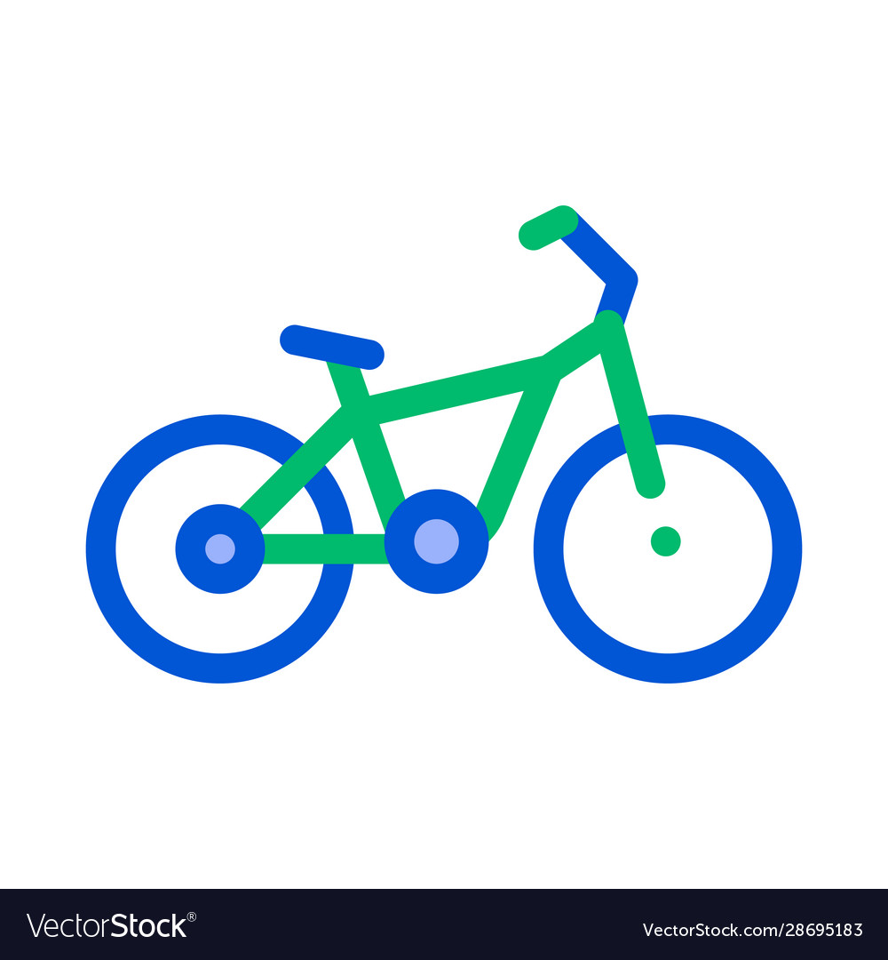 Public transport bicycle thin line icon