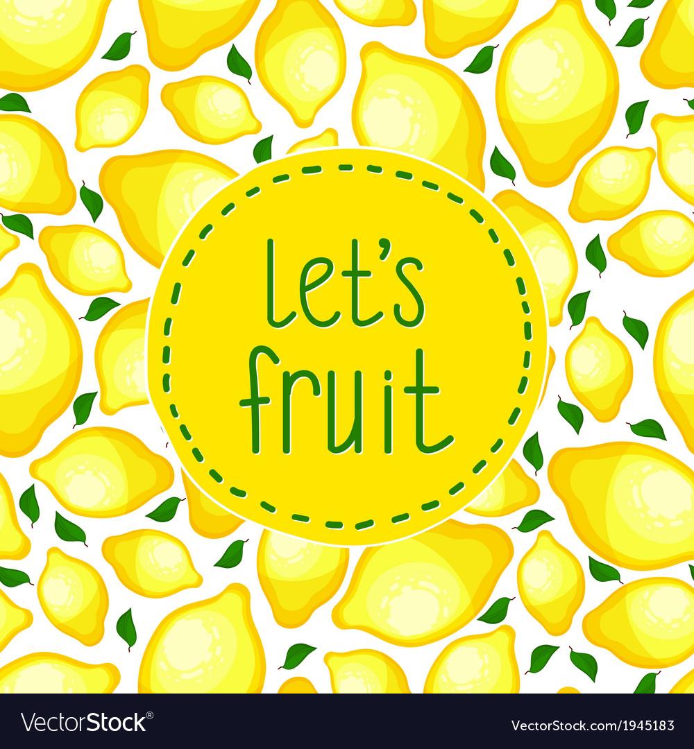 Seamless pattern of lemons