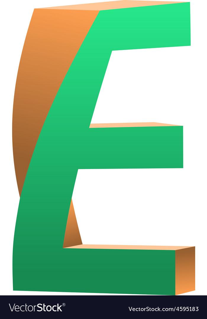 Twisted Letter E Logo Icon Design Template Element