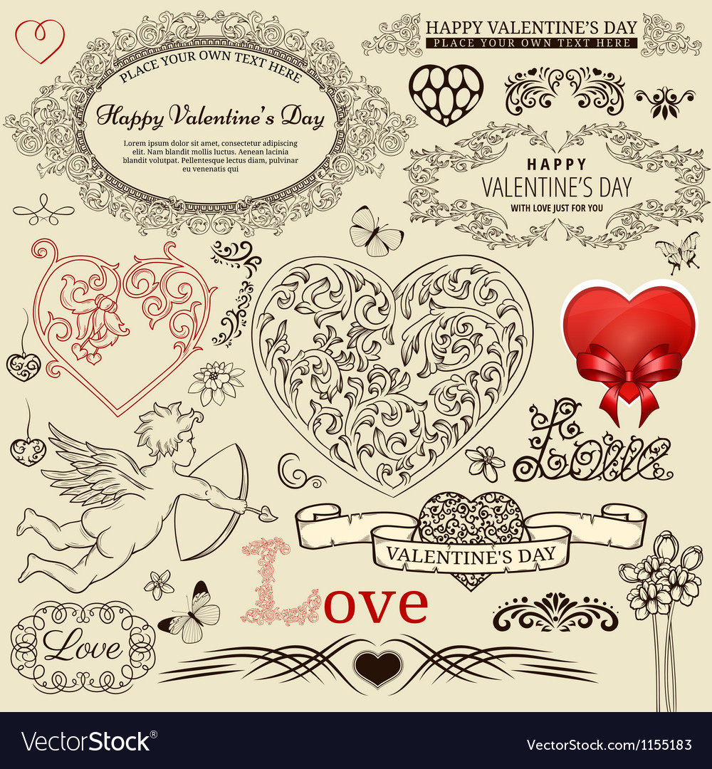 Valentine design elements