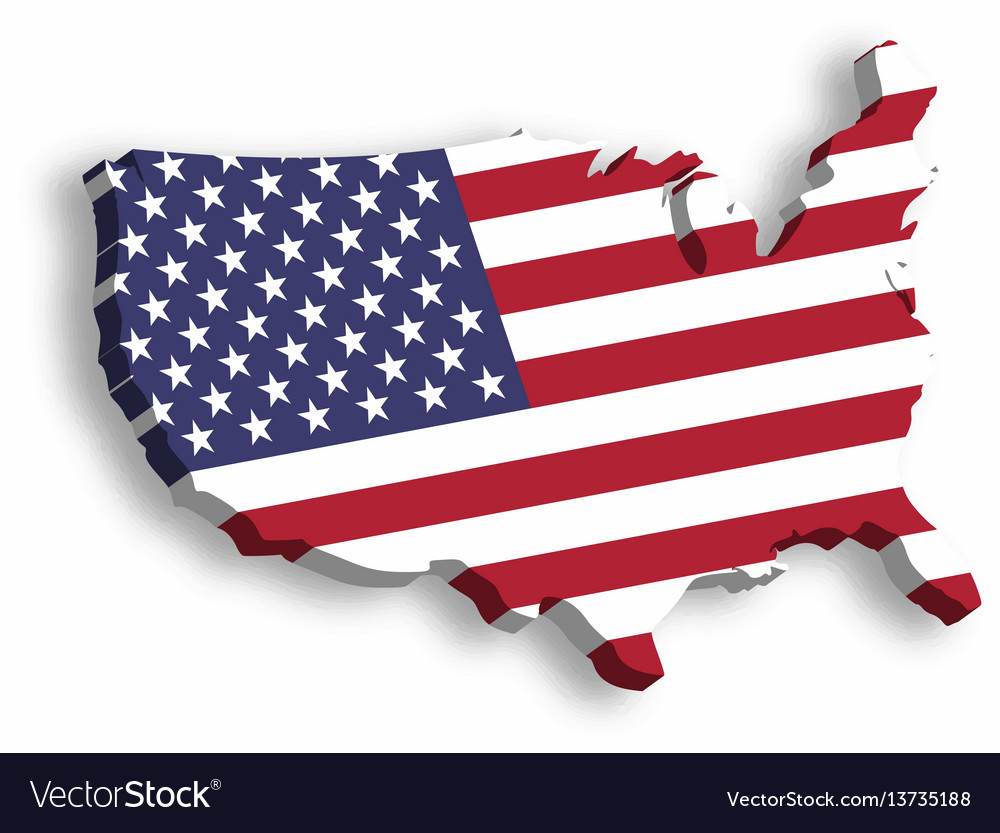 United States Of America Map Of States.3d Map Of Usa Aka United States Of America In A