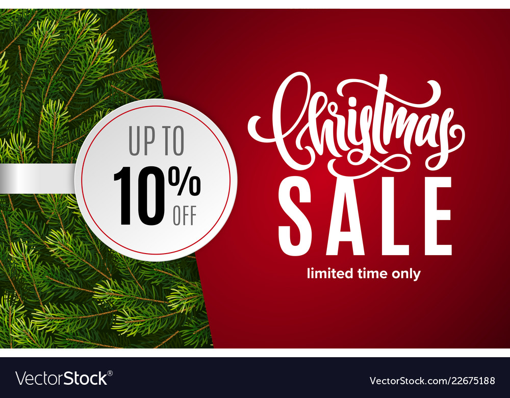 Christmas holiday sale 10 percent off