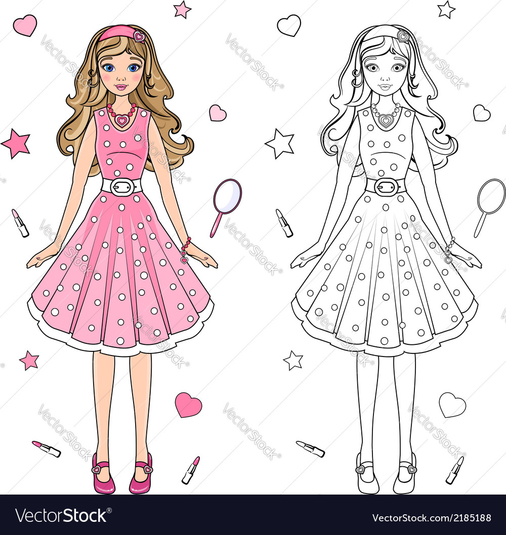 Coloring book doll