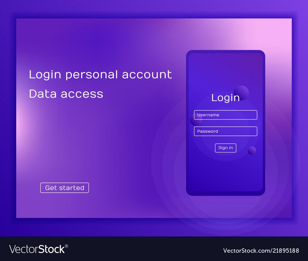 Concept website modern flat style