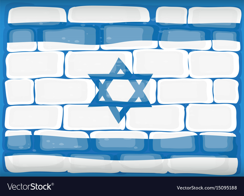 Flag of israel painted on the wall