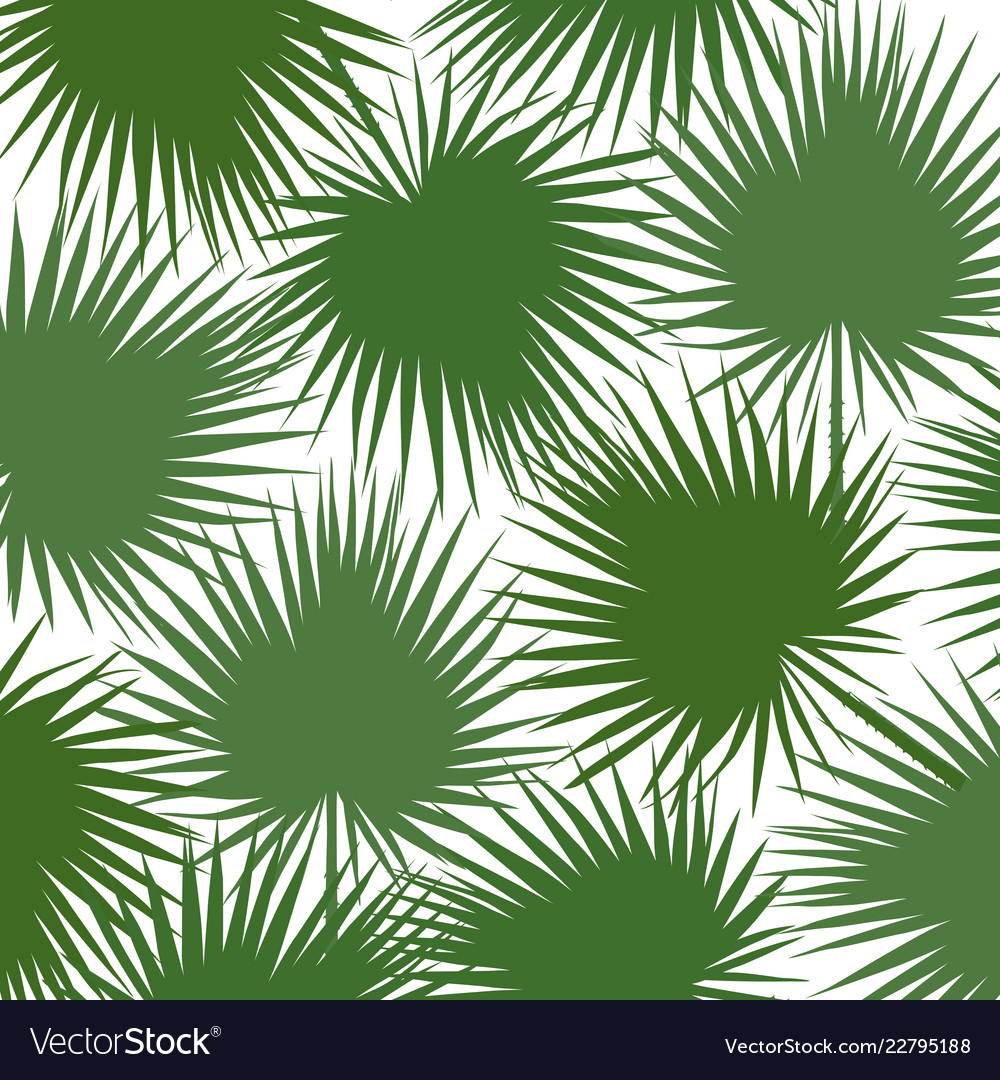 Green silhouette of leaf libistones of chinese