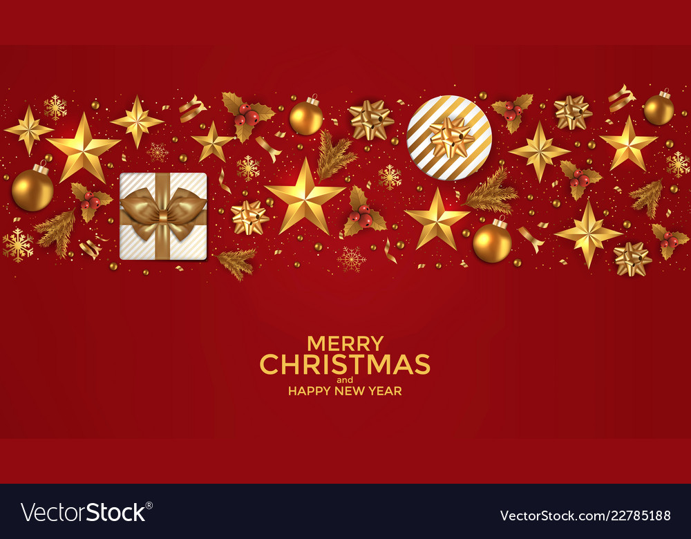 Holiday new year card - 2019 on red background 2