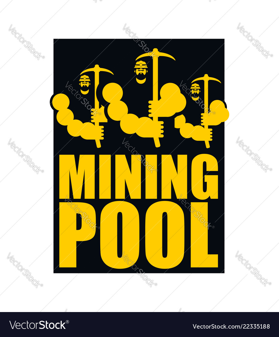 Mining Pool Logo Extraction Of Bitcoin Crypto Vector Image