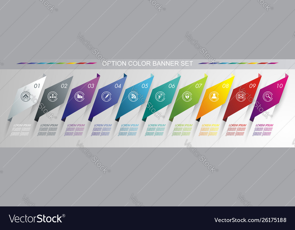Modern design from folded banners