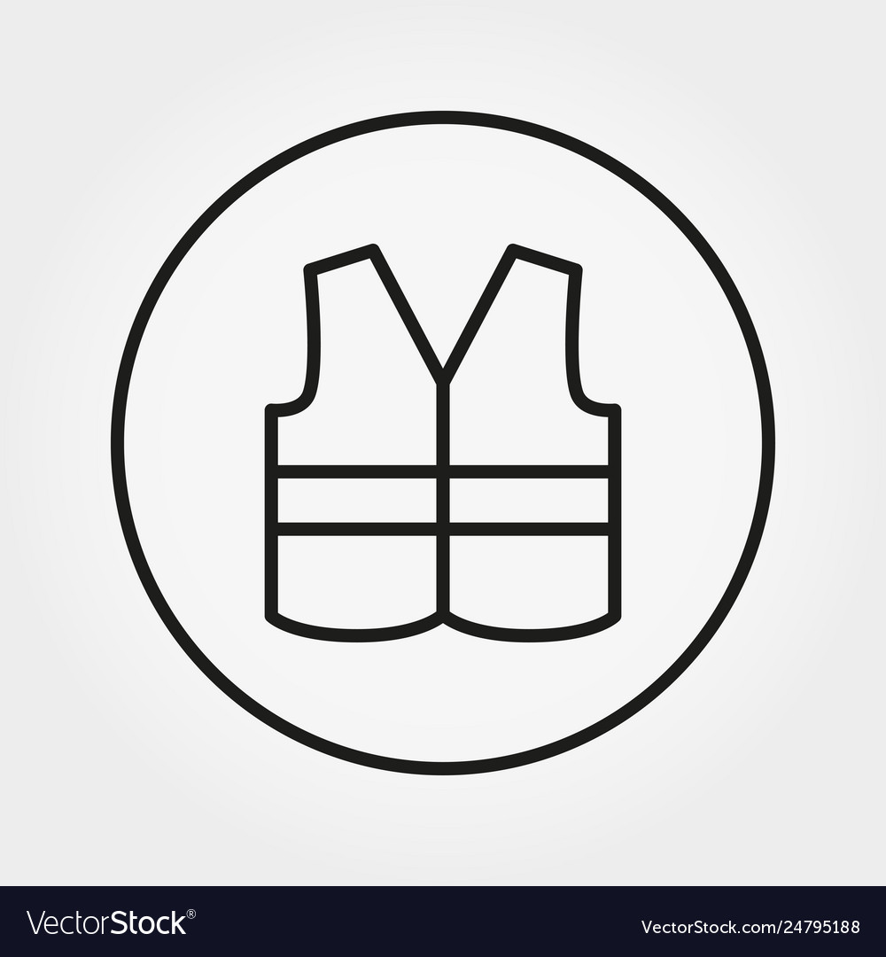 Safety vest icon editable thin line