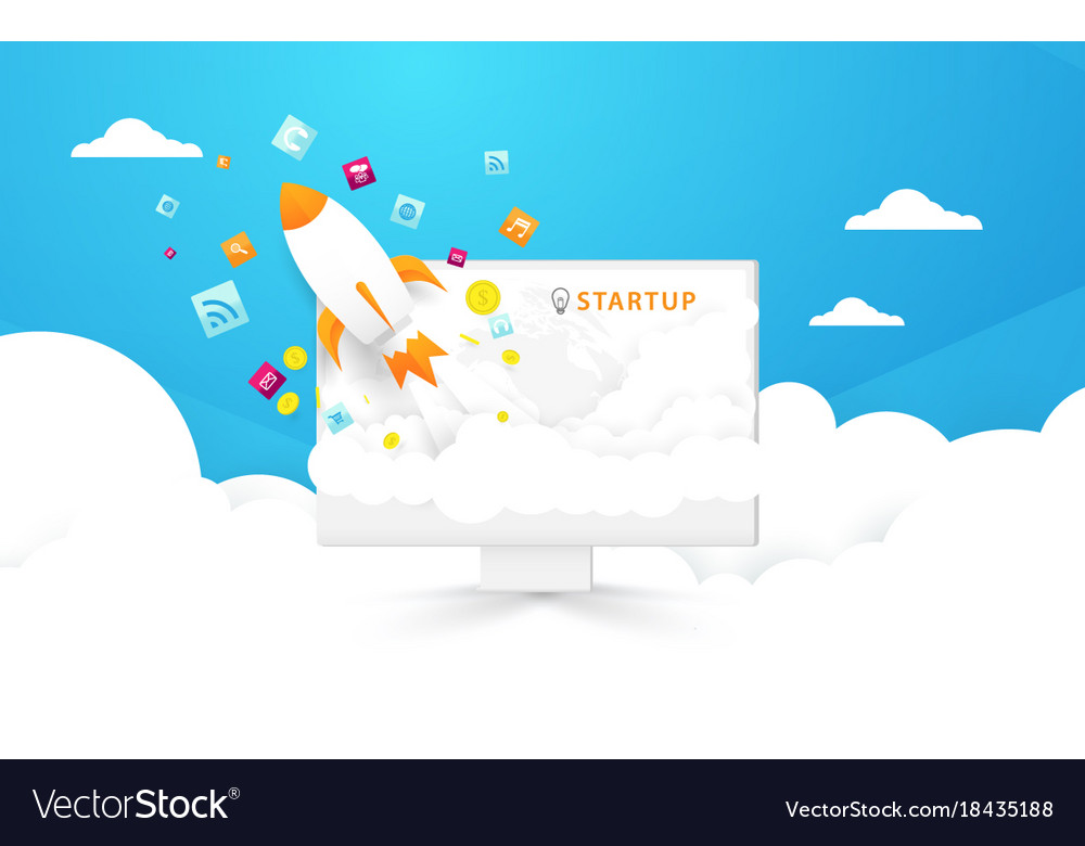 Start up background computer and rocket launch