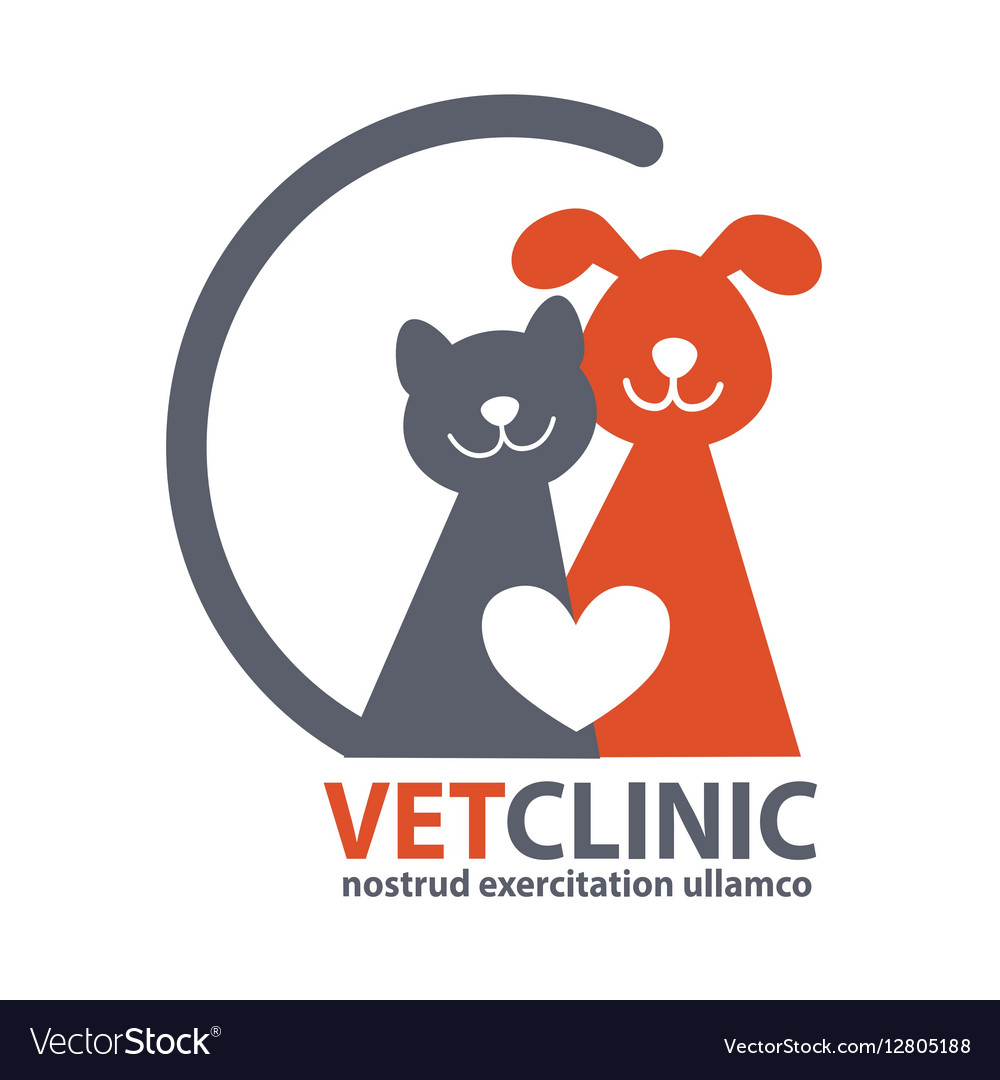 Veterinary Clinic logo with the image of pet