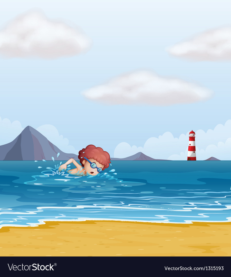 beach swim at the