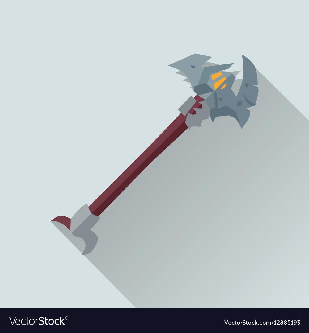 Cartoon Beardy Axey Game Sword vector image