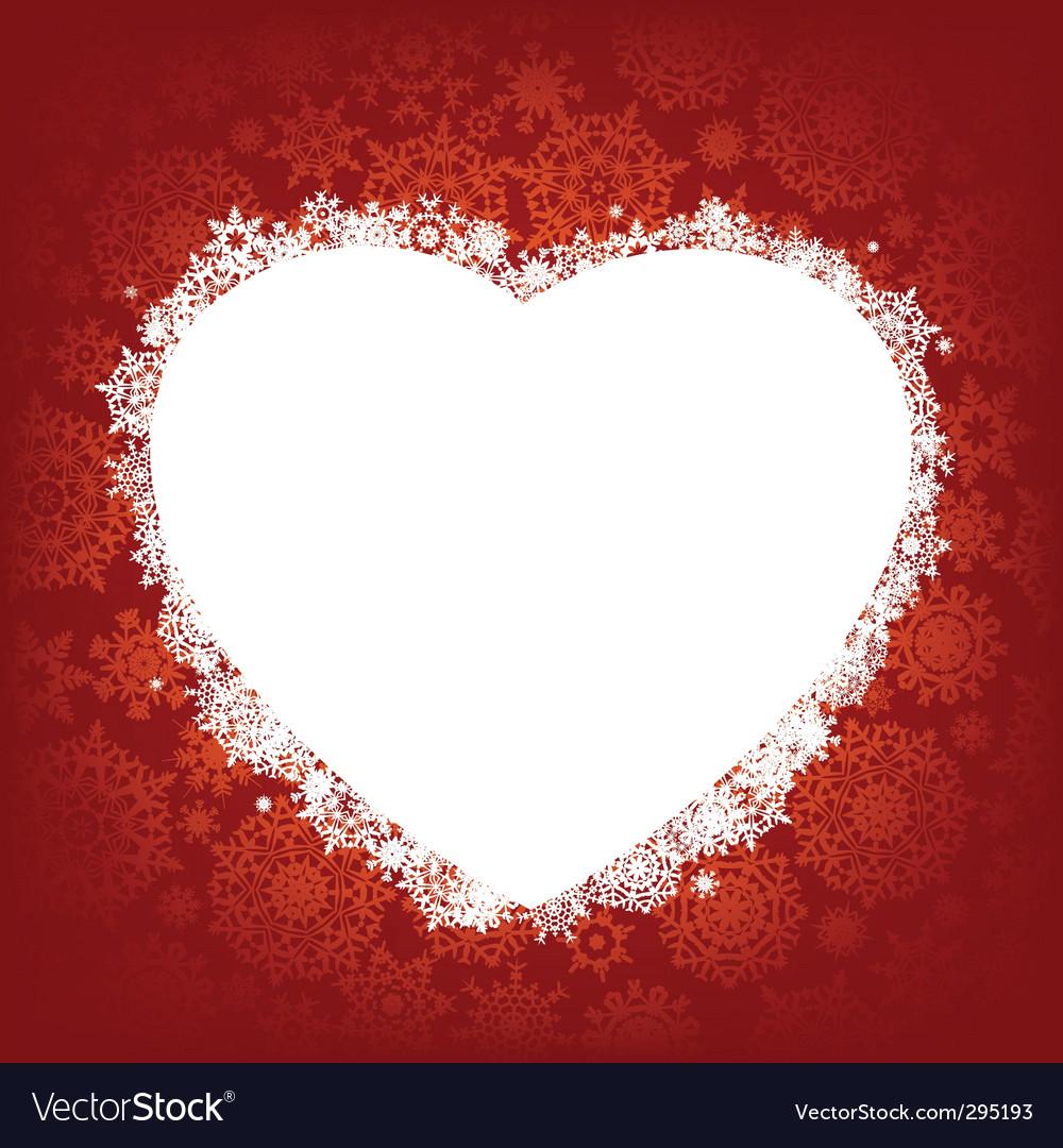 Christmas Heart Vector.Christmas Heart Frame