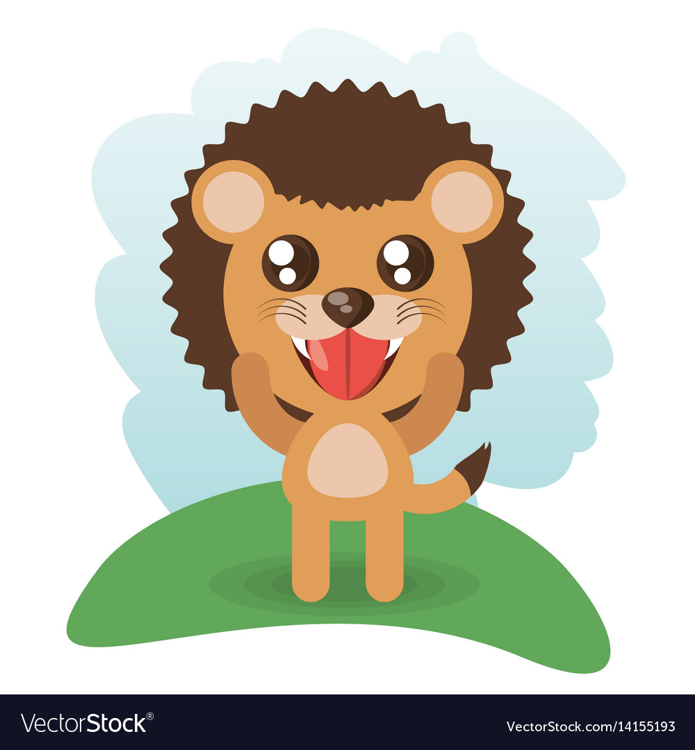 Cute lion animal wildlife