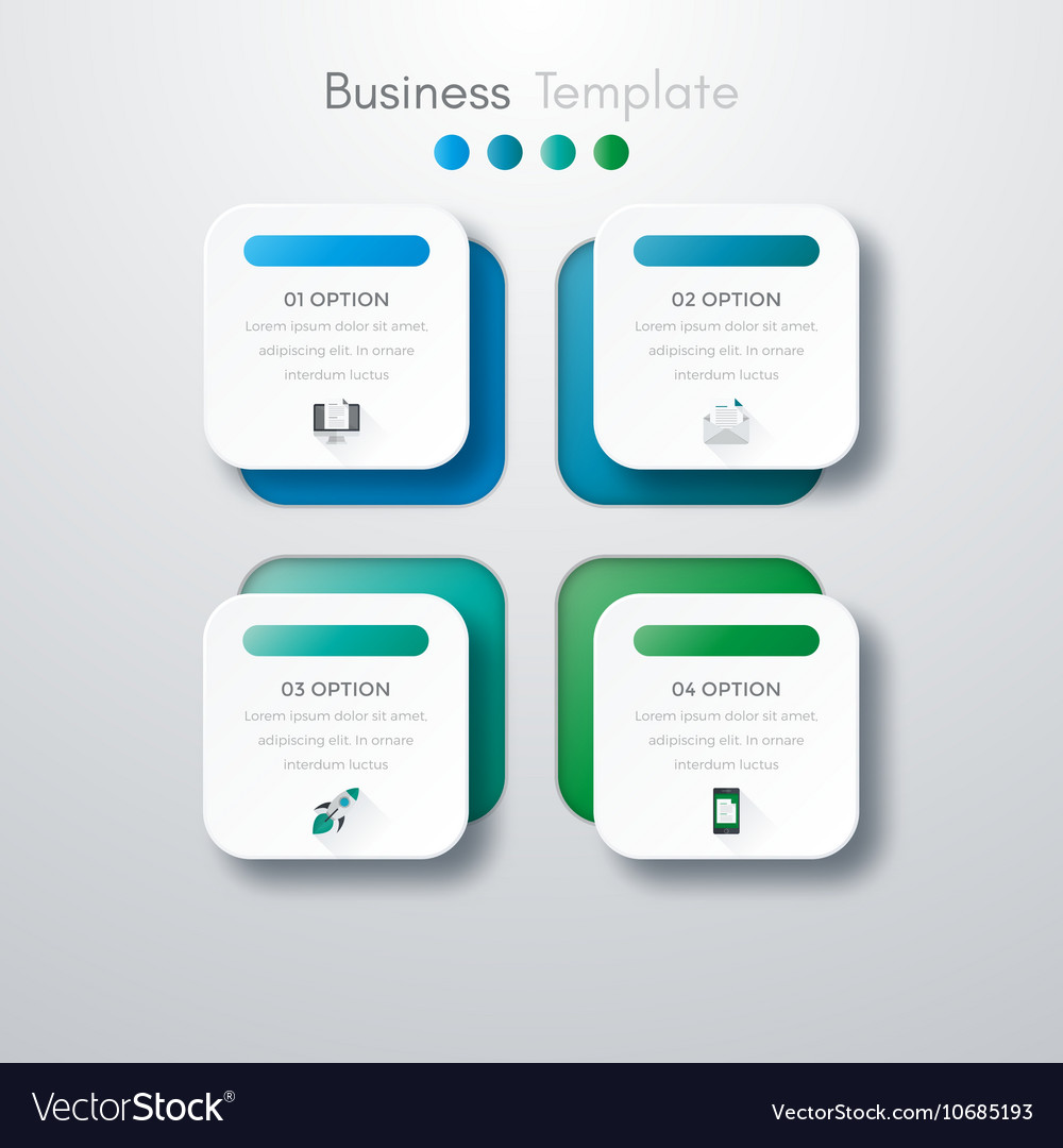 four square infographics royalty free vector image
