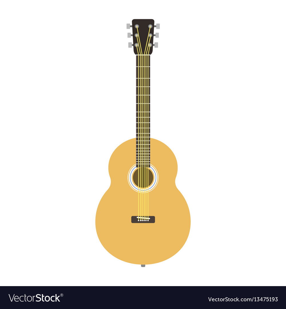 Guitar icon stringed musical instrument classical
