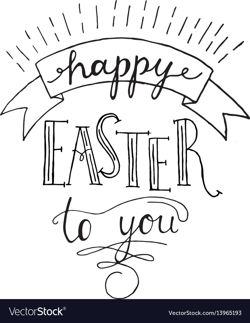 Happy easter to you lettering