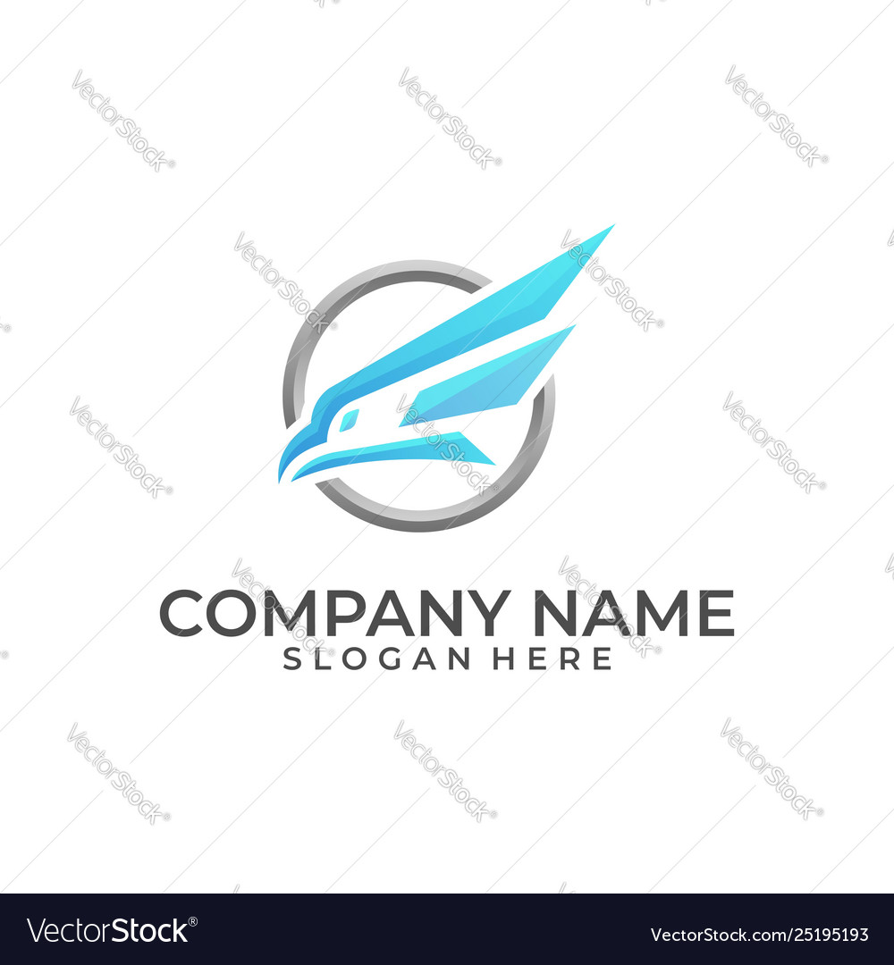 Head eagle color designs template