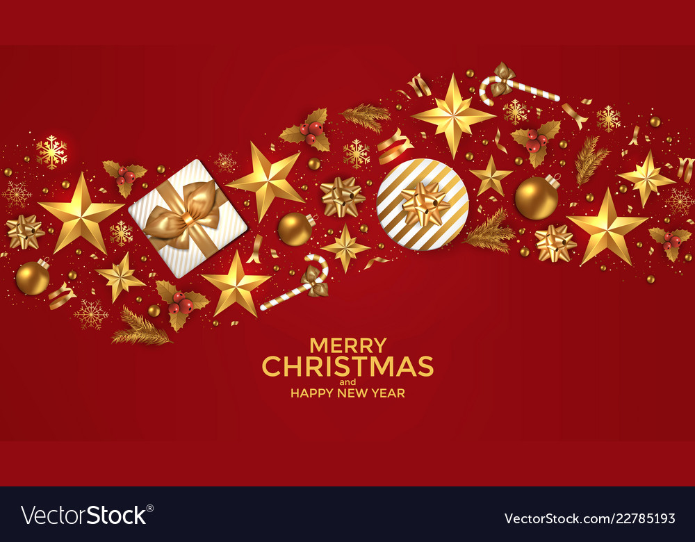 holiday new year card 2019 on red background 4 vector image