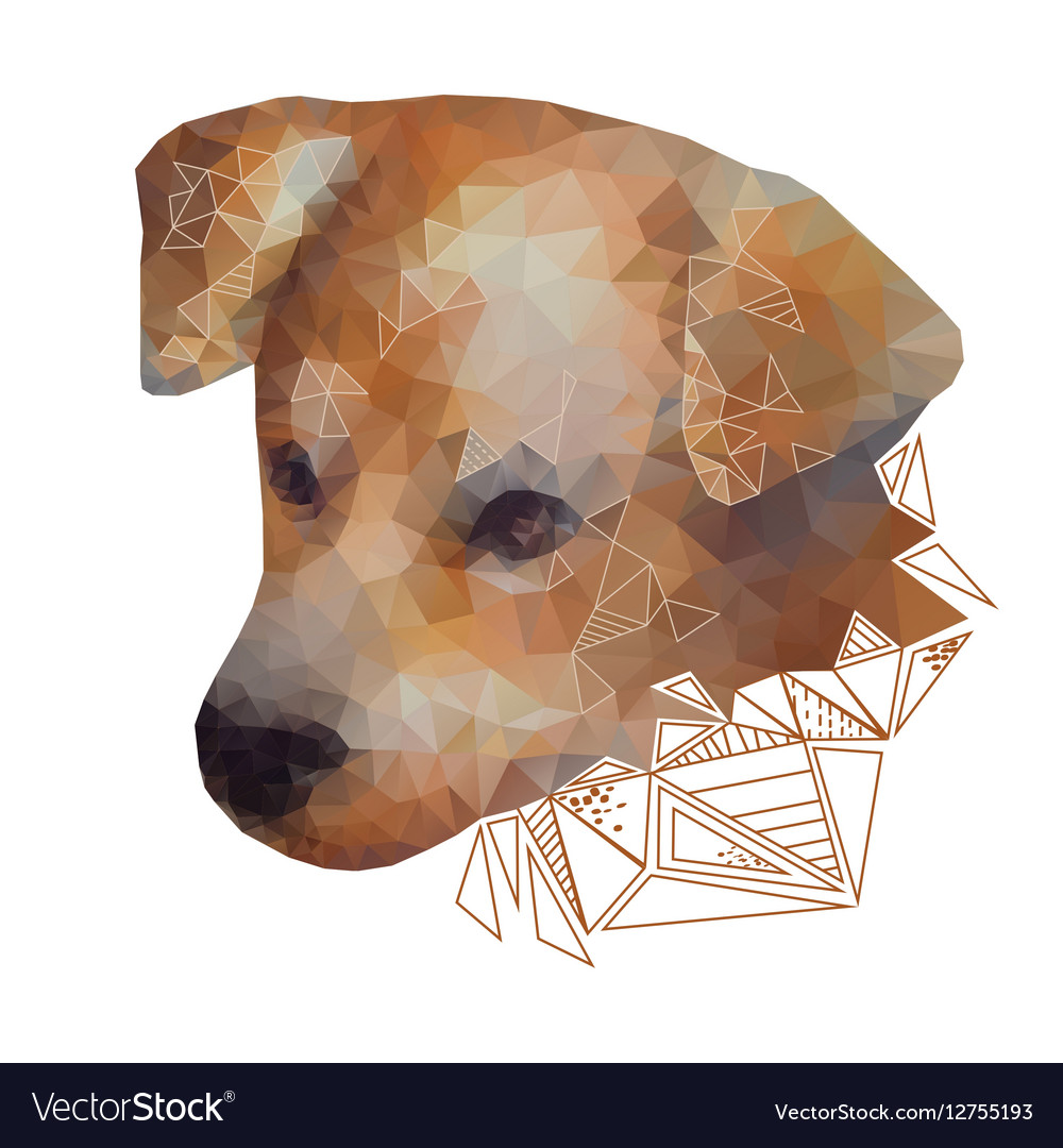 Isolated Stylized Portrait of a Dog vector image