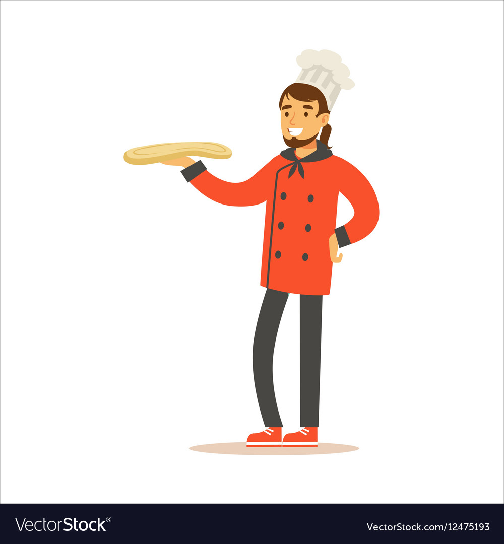 Man Professional Cooking Chef Working In