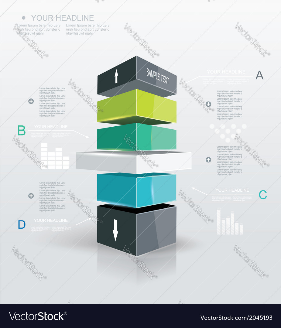 Modern design template infographic