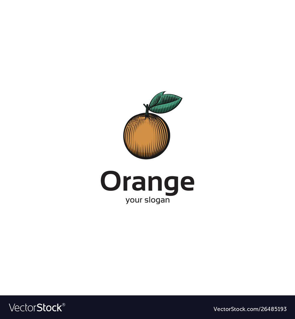 Orange line art logo