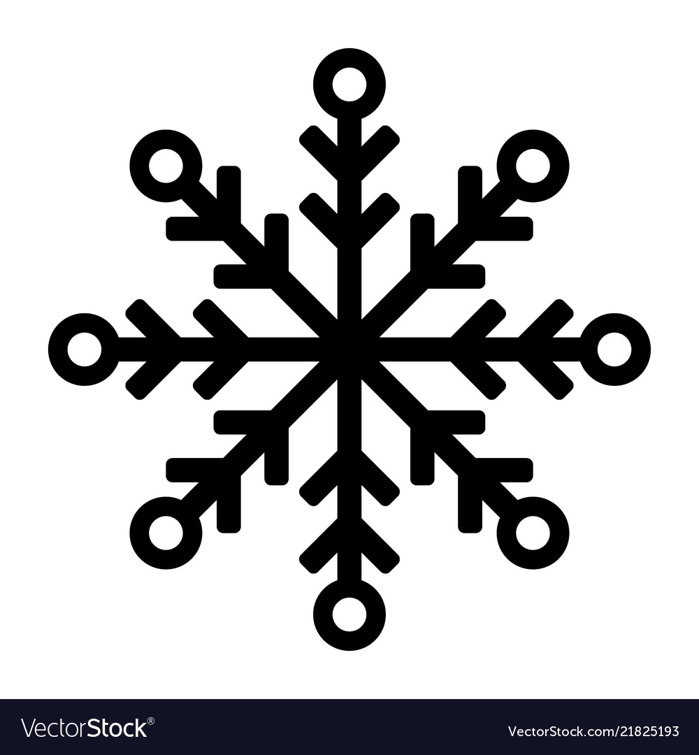 Snowflake icon or logo christmas and winter theme
