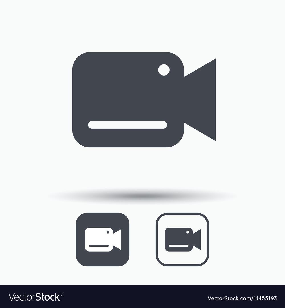Video camera icon Film recording cam symbol