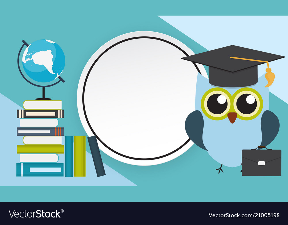 Back to school education background with frame Vector Image