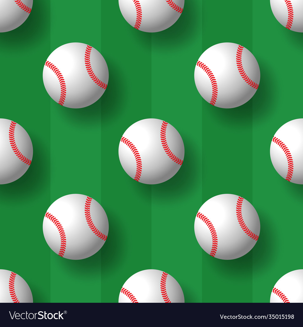 Baseball seamless pattern tennis ball tile