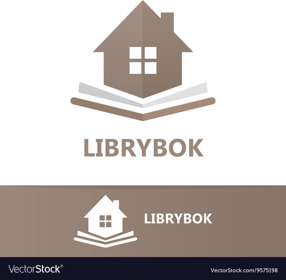 Book and house logo concept