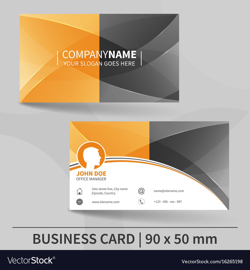 Business card template suitable for printing Vector Image