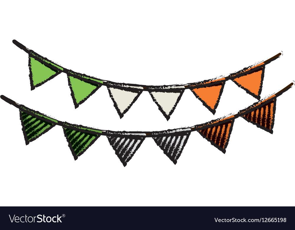 Cartoon festive bunting st patrick day vector image