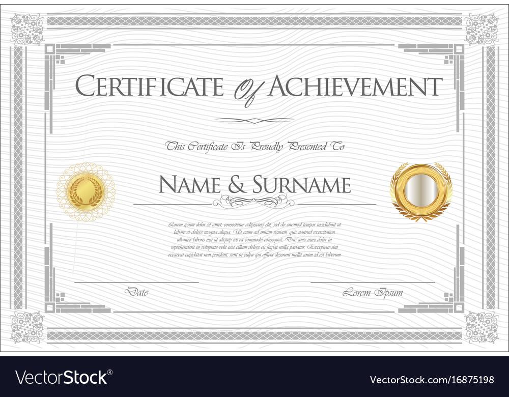 Certificate or diploma retro template 06