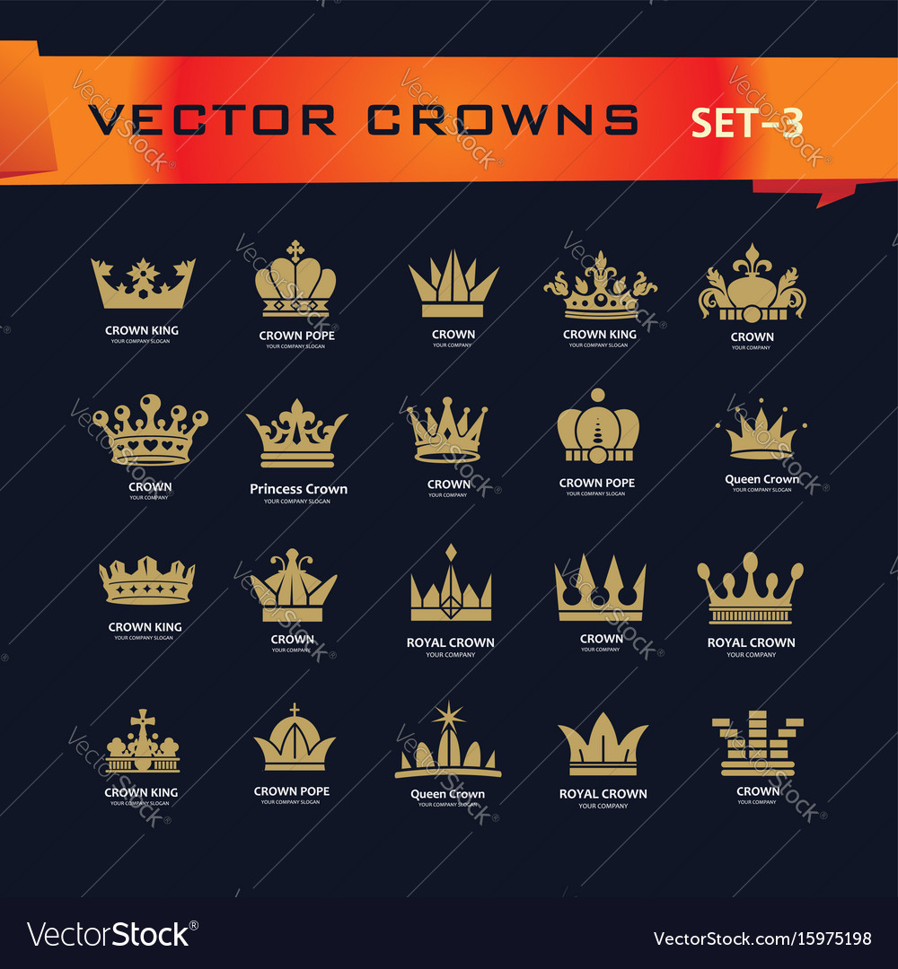 Collection of creative king queen princess pope vector image