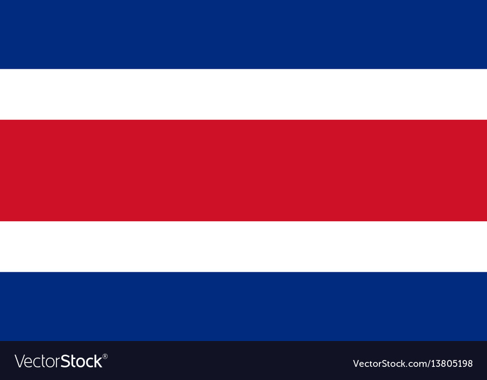 Costa rica flag for independence day and vector image