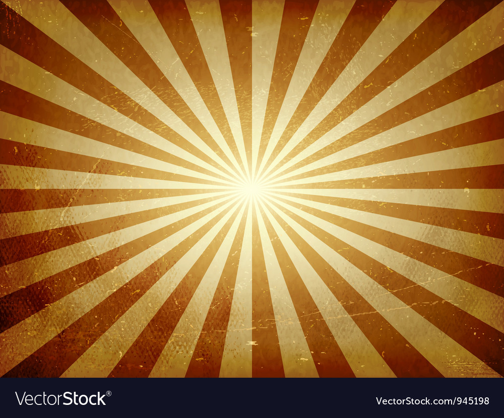 Distressed light burst background vector image