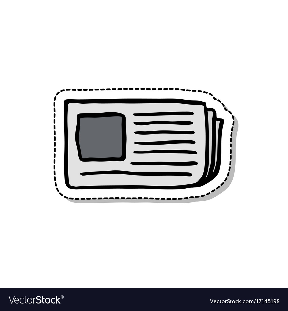 Newspaper doodle icon vector image