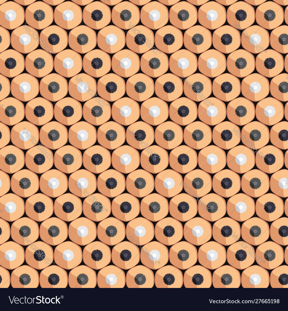 Seamless pattern simple pencils for drawing