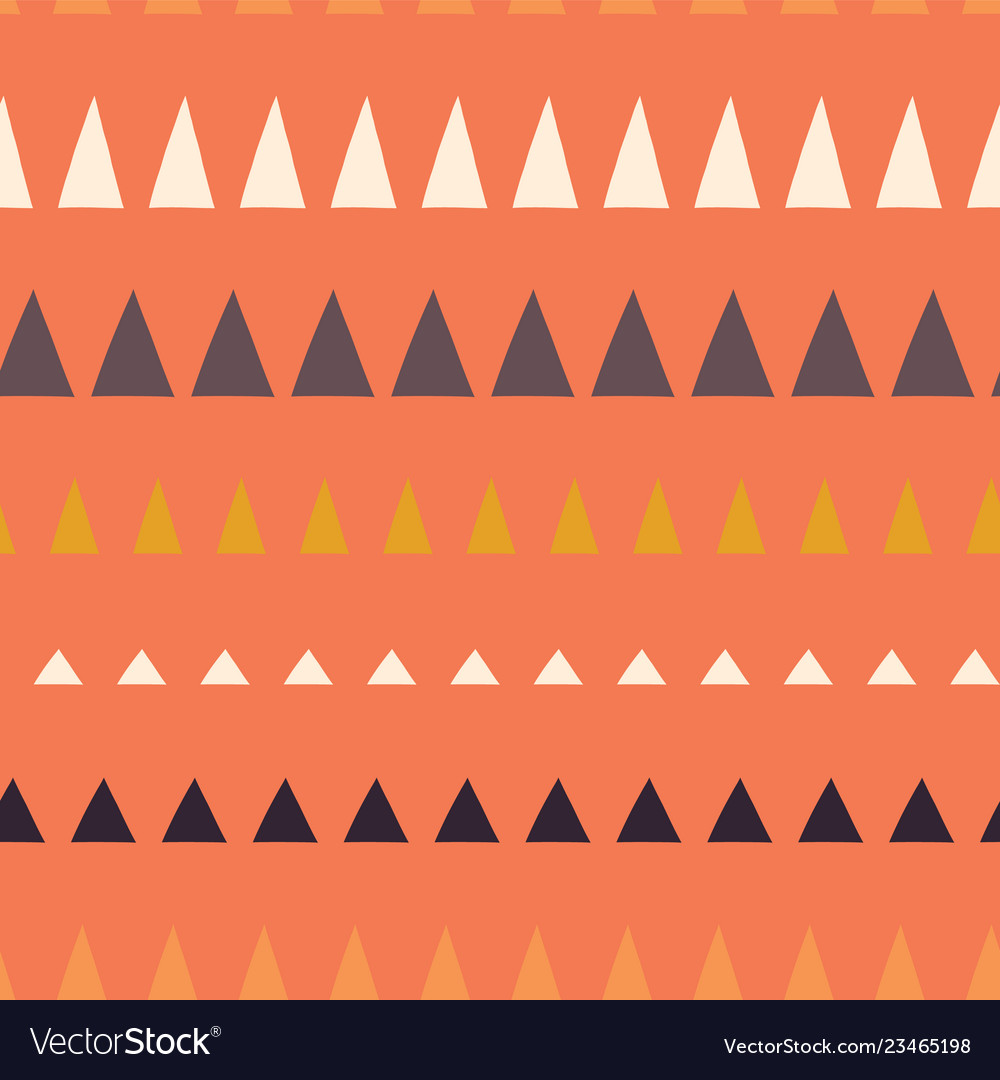 Triangles in a row seamless pattern